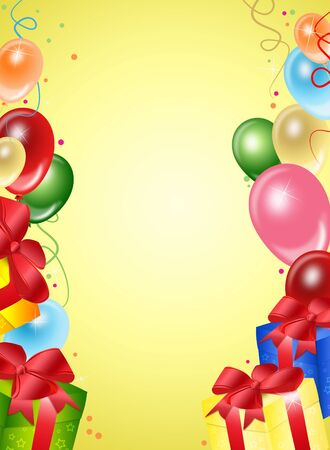 births: Illustration of festive background from balloons