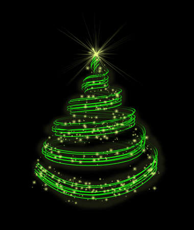 newyear: New-year fir-tree  Stock Photo