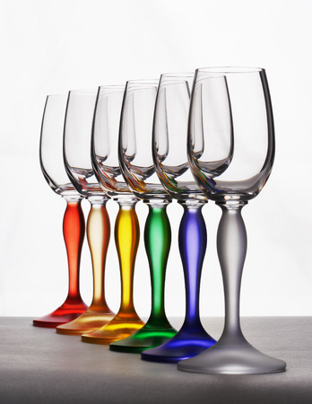 Color wine glasses