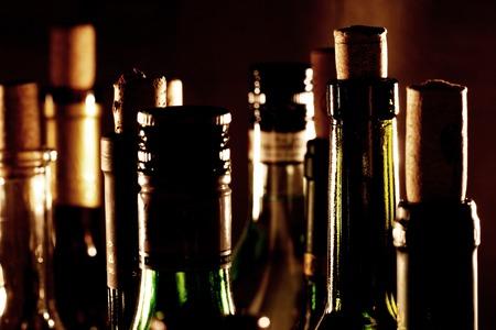 Les bouteilles de vin  Banque d'images