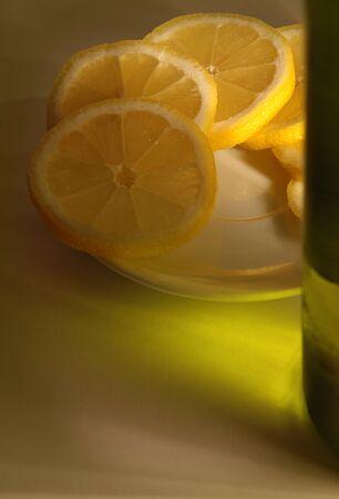 Lemon slices and alcohol Stock Photo - 1585617