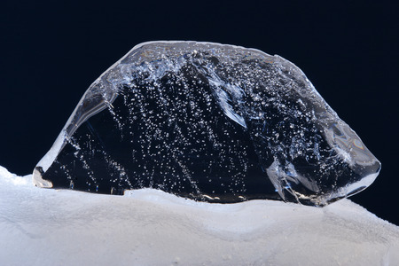 thawing: Thawing clear ice fragment.