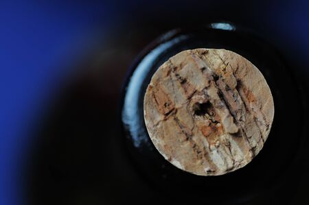 Cork in the wine bottle. Narrow depth of field. Stock Photo - 3360995