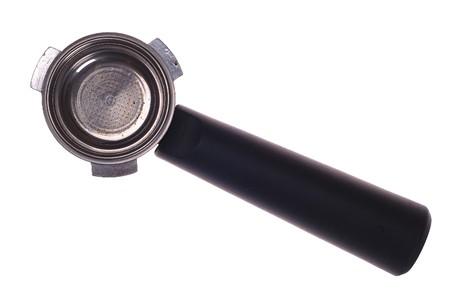 Heavy duty filterhouder voor koffiemachine. geïsoleerd op de witte. Stockfoto - 4383586