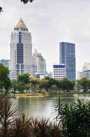 Belle vue du centre ville de Bangkok. Tha�lande.