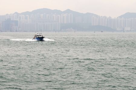 Boat in Aberdeein harbour, Hong Kong, China  photo