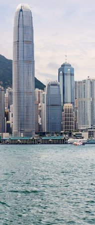 Skyscrapers on the shore of Aberdeen Harbour  Hong Kong  China  No logo  photo