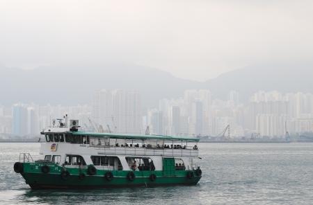 HONG KONG - JULY 18: Passenger ship in the Victoria Harbour. Hong Kong, China - July 18, 2011. Editorial