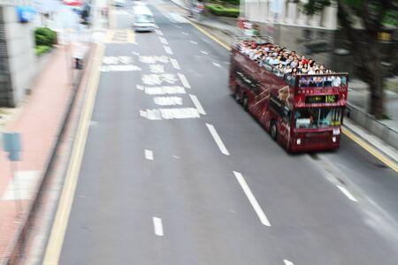 doubledecker: HONG KONG - JULY 19: Double-decker tourist Editorial