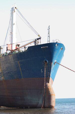 Ship on the shoal photo