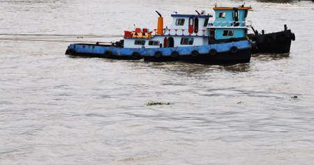chao phraya river: Tugbot in the Chao Phraya river  Bangkok  Thailand