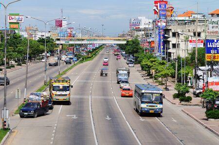 BANGKOK - SEPTEMBER 3: Road traffic on the street of Bangkok. Bangkok, Thailand - September 3, 2011. Stock Photo - 16585470