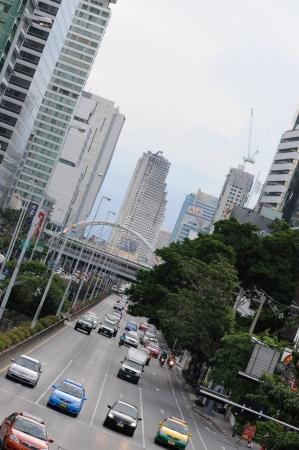 BANGKOK - SEPTEMBER 4: Road traffic in Bangkok. Bangkok, Thailand - September 4, 2011. Stock Photo - 16585528