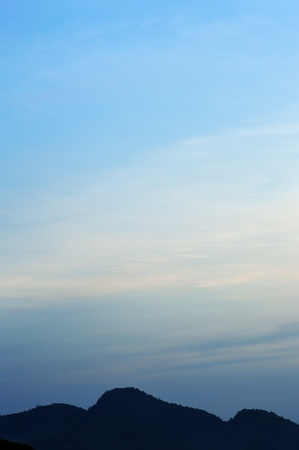 Big hills under blue sky Stock Photo - 19932456