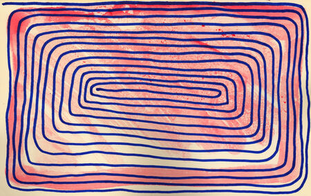 felt: Abstract . Hand drawn with felt pen on aged paper. Stock Photo