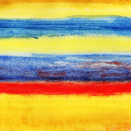seascape: Abstract seascape. Watercolor painting on white paper. Stock Photo