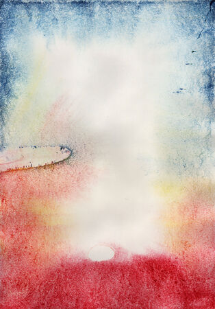 dabs: Abstract texture. Watercolor painting on paper.
