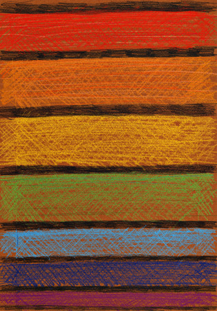 crayons: Abstract stripes. Colored crayons drawing on paper.