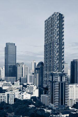 urbanscape: Beautiful view of Bangkok city centre. Thailand.