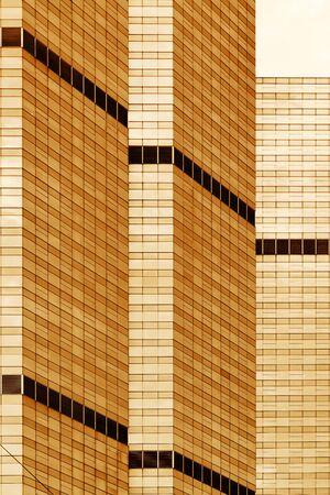 urbanscape: Skyscraper in the Bangkok city centre. Close-up. Stock Photo