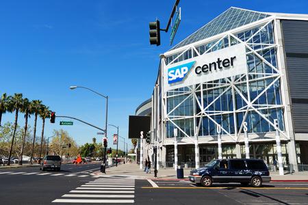 san jose: SAN JOSE - MARCH 26: Beautiful street view in downtown of San Jose. San Jose, California - March 26, 2015. Editorial