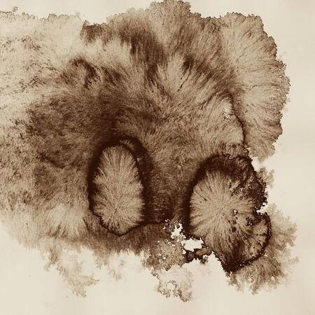 blots: Abstract ink blots on paper. Stock Photo