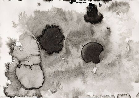 ink blots: Abstract ink blots on paper. Stock Photo