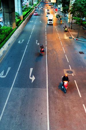 noises: BANGKOK, THAILAND - SEPTEMBER 9, 2015: Noisy and colorful life-filled streets of Bangkok.