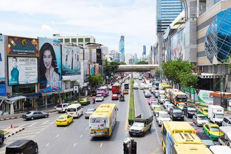 megapolis: BANGKOK, THAILAND - SEPTEMBER 9, 2015: Noisy and colorful life-filled streets of Bangkok.
