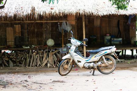 gnaw: CHIANG RAI, THAILAND - AUGUST 31, 2015:Some details of the Karen Hilltribe. The Karen Village near Chiang Rai, Thailand.