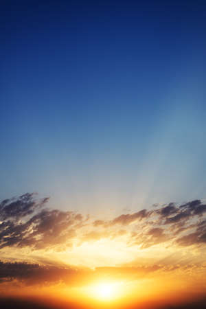 spectacular: Spectacular sunset background with sun rays.