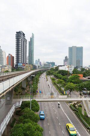 megapolis: BANGKOK, THAILAND - AUGUST 28, 2015: Beautiful view of noisy and colorful life-filled streets of Bangkok.