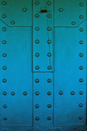 rivets: Old metal construction with big rivets. Background. Texture.
