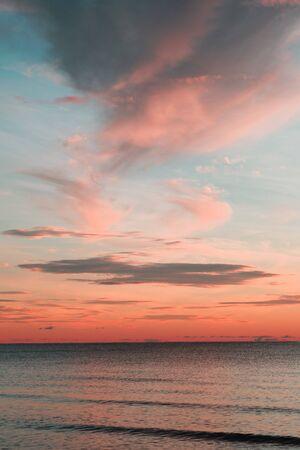 hua: Beautiful ocean sunrise in Hua Hin, Thailand. Stock Photo