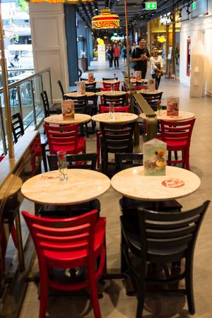september 2: BANGKOK, THAILAND - SEPTEMBER 2, 2016: Beautiful cafe interior in downtown of Bangkok. Editorial