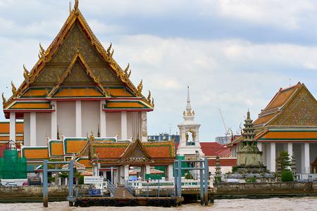 BANGKOK, THAILAND - July 14, 2017: Beautiful view of the famous Chao Phraya River in Bangkok, Thailand. Editorial