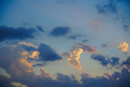 Peaceful clouds in the sky.