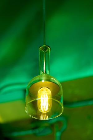 Closeup of modern led lamp. Banco de Imagens