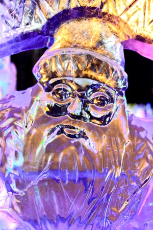 Ice figure Santa Claus from the fairy tale