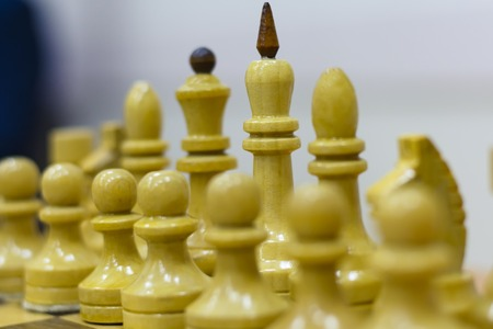 Chess figure, business concept strategy, leadership, team and success.