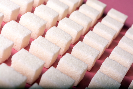 Abstract image of evenly spaced sugar cubes