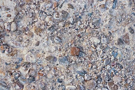 stonesbackground, small stones with sand, surface copy space Banque d'images