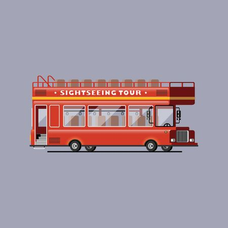 excursion: London vector red bus Illustration