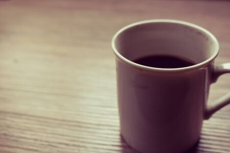 black coffe on the table