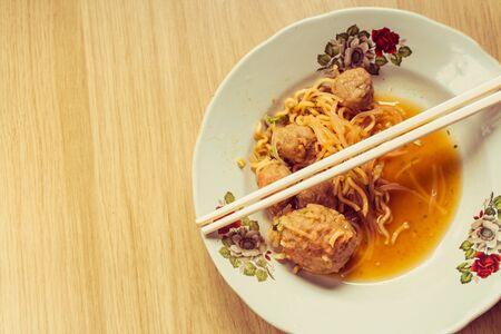 Bakso Asian traditional food Stock Photo