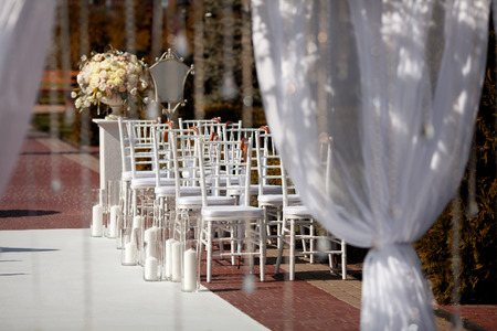 Beautiful chairs at the wedding ceremony.