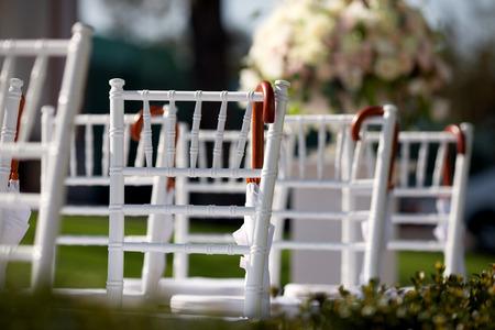 wedding chairs: Row of wedding chairs