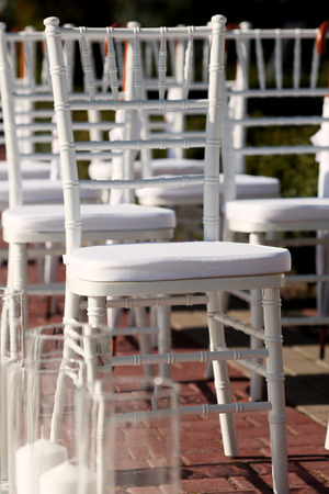wedding chairs: Row of wedding chairs