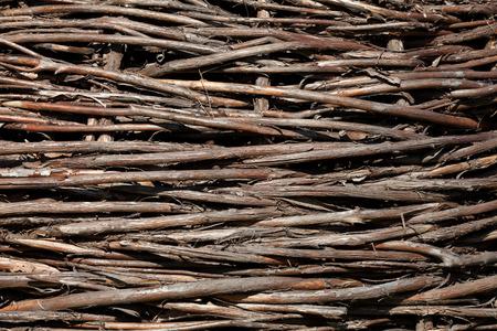 brushwood: Natural brushwood fence, background Stock Photo