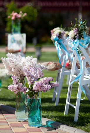 exteriores: Decoración de la boda de flores